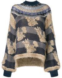 Mame - Mesh Knit Oversized Jumper - Lyst