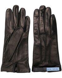 Prada - Zipped Logo Gloves - Lyst