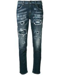 Jacob Cohen - Distressed Slim-fit Jeans - Lyst