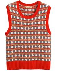 Burberry - Top sin mangas con motivos geométricos - Lyst