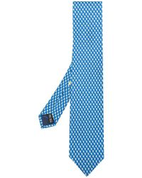 Ferragamo - Dolphin Print Tie - Lyst