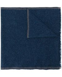 Eleventy バイカラースカーフ - ブルー