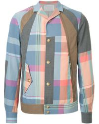 Kolor - Checked Button Jacket - Lyst