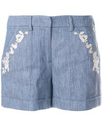 Twin Set - Embroidered Shorts - Lyst