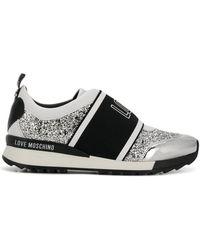 Love Moschino - Love Glitter Sneakers - Lyst