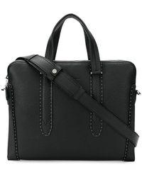 Ferragamo - Micro-studded Shoulder Bag - Lyst
