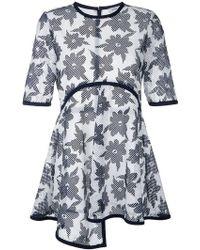 Goen.J - Floral Print Sheer T-shirt - Lyst