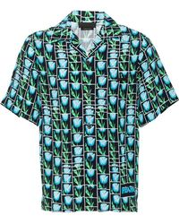 Lyst - Chemise a manches courtes multicolore Bananas and Flames ... 5b2d8eb5ca9