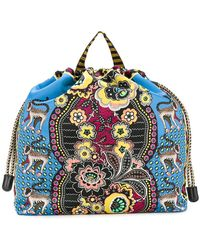 Etro - Jungle Print Backpack - Lyst