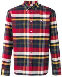 Maison Kitsuné - Camisa Fox Patch a cuadros - Lyst