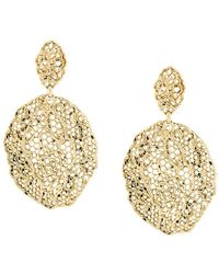 Aurelie Bidermann - Vintage Lace Clip-on Earrings - Lyst