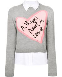 Alice + Olivia - All You Need Is Love Jumper - Lyst