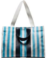 Sunnei - Multicoloured Striped Oversized Tote Bag - Lyst