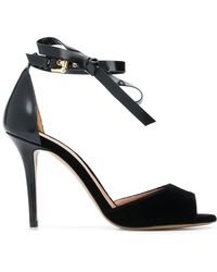 Emporio Armani - Ankle Bow Strap Sandals - Lyst