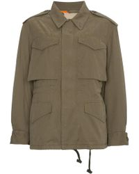 Gucci - Logo Print Military Jacket - Lyst