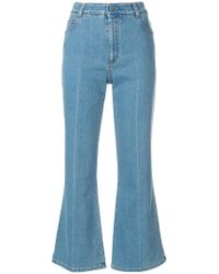 Stella McCartney - Cropped Flared Jeans - Lyst