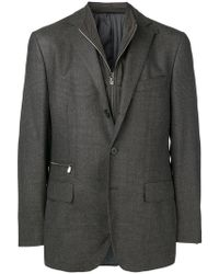 Corneliani - Zip-detail Fitted Blazer - Lyst