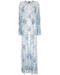 Jenny Packham - Cardigan long brodé de sequins - Lyst