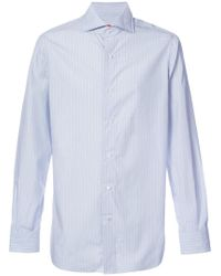 Isaia - Striped Long Sleeve Shirt - Lyst