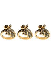 Camila Klein - Strass Embellished 3-ring Set - Lyst