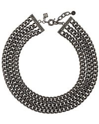 Karl Lagerfeld - Triple Chain Necklace - Lyst