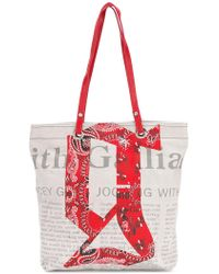John Galliano - Newspaper Print Tote - Lyst