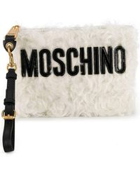 Moschino - Textured Clutch Bag - Lyst