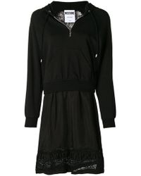Moschino - Layered Lace Hoodie Dress - Lyst
