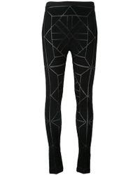 Gareth Pugh - Geometric Pattern Leggings - Lyst