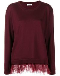 P.A.R.O.S.H. - Contrast Trim Knitted Top - Lyst