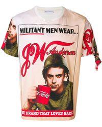J.W.Anderson - Jwa Militant Print T-shirt - Lyst