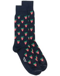 Paul Smith - Strawberry Skull Socks - Lyst
