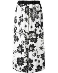 Antonio Marras - Floral Print Trousers - Lyst