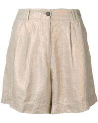 Forte Forte - Metallic Linen Shorts - Lyst