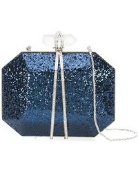 Marchesa - Glitter box clutch bag - Lyst
