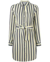 Liu Jo - Striped Shirt Dress - Lyst