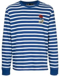 The Upside - Embroidered Flower Striped Jumper - Lyst