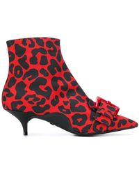 N°21 - Leopard-print Ankle Boots - Lyst