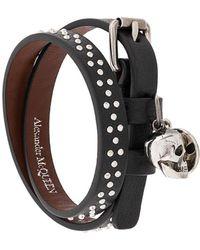Alexander McQueen Armband mit Anhängern - Schwarz