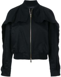 FEDERICA TOSI - Cut-out Shoulder Bomber Jacket - Lyst