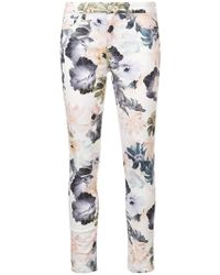 7 For All Mankind - Floral Print Skinny Jeans - Lyst