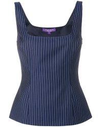 Ralph Lauren Collection - Stripe Pattern Top - Lyst