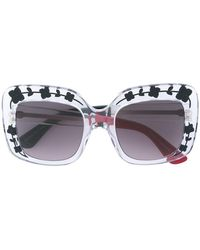e9d4cf4413 Gucci - Oversize Etched Square-frame Sunglasses - Lyst