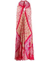 Ralph Lauren - Vestido sin mangas con diseño patchwork - Lyst