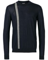 Giorgio Armani - Stripe Detail Sweatshirt - Lyst