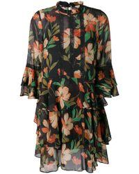 Twin Set - Floral Flared Mini Dress - Lyst