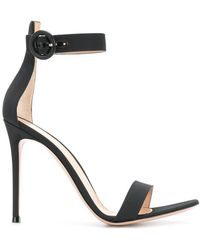 Gianvito Rossi - Textured Strappy Sandals - Lyst
