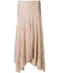 Diane von Furstenberg - Striped Asymmetric Hem Skirt - Lyst