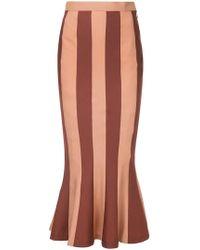 G.v.g.v - Striped High Waisted Skirt - Lyst