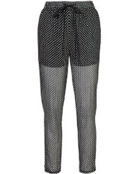 RED Valentino - Polka Dot Trousers - Lyst